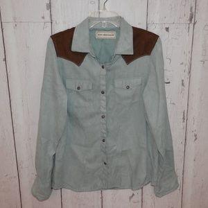 Bit & Bridle Mens Large Snap Western Cowboy Shirt